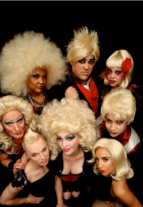 The Hedwigs (clockwise from the top center) John R. Lewis, Nikki Arias, James Mayagoitia, Anastasia Bonaccoorso, CC Sheldon, Ste Fishell, Arturo Glaster and Nicole Julien. (Photo Credit: Peter Liu.)