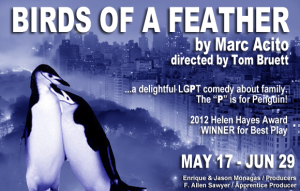 "New Conservatory Theatre Center presents Marc Acito's ""Birds of a Feather""."