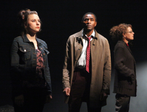 "(l to r) Marissa Keltie, Carl Lumbly and Stacy Ross in the first American production of Mark O'Rowe's ""Terminus"" at Magic Theatre (Photo Credit: Jennifer Reiley)"
