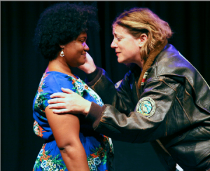 "Farah Sanders (lt) and Heidi Wolff (rt) in Alina Trowbridge's ""Double-Edged Sword"". Phto Credit: Wily West."