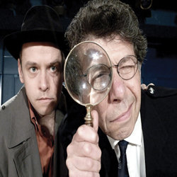"(from l to r) Gareth Brierly and Mark Long in ""The Detective Show"". Photo Credit: People Show."