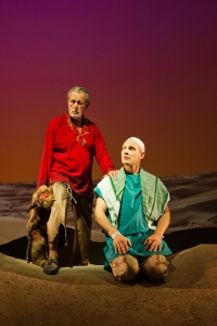 The ghosts of the Tiger (Will Marchetti, L) and Marine (Craig Marker, R) ponder God. Photo Credit: Jessica Palopoli