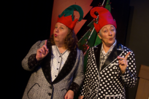 "The Crackpot Crones, Carolyn Myers (l) and Terry Baum (r) are ""Crones for the Holidays"" at The Exit Theatre."