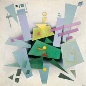 Invention (Composition 31) by Rudolf Bauer. Photo Credit:  Solomon Guggenheim Museum.