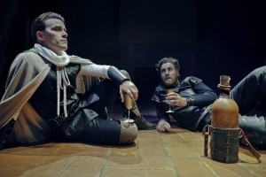 "Benjamin Stowe and Lucas Hatton as Niccolo Machiavelli and Cesare Borgia in ""The Lion and the Fox"". Photo credit: Jim Norrena."