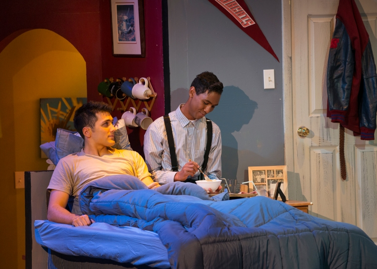 "Damion Matthews as Dayne and Maurice André San-Chez as Kendall in ""Yellow"" at New Conservatory Theatre Center.  Photo Credit: Lois Tema."