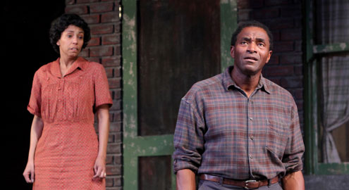 "Margo Hall and Carl Lumbly in ""Fences"" at Marin Theatre Company."