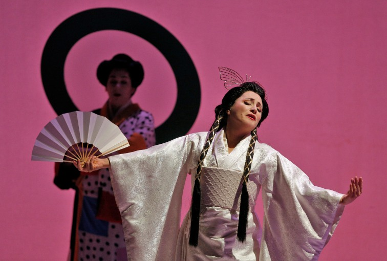 Patricia Racette as Cio-Cio San in San Francisco Opera's production of Madame Butterfly. Photo Credit: Cory Weaver.