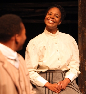 Jacob (Eddie Ray Jackson) and Ruby (Tangela Large) in the world premiere of Christina Anderson's Pen/Man/Ship at Magic Theatre. Photo Credit: Jennifer Reiley
