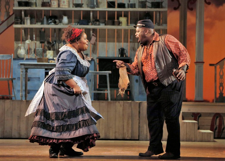 Angela Renee Simpson  as Queenie and Morris Robinson as Joe. Photo Credit: Cory Weaver/San Francisco Opera