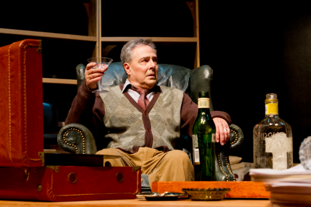 "Donald Currie as the actor, Fitz, playing the role of poet W. H. Auden in ""The Habit of Art"" at Theatre Rhino. Photo Credit: Kent Taylor."