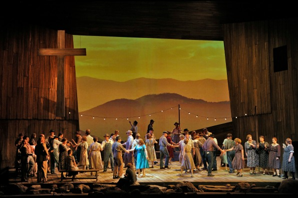 "A beatifully staged church square dance opens SF Opera's production of ""Susannah"". Photo Credit: Cory Weaver/San Francisco Opera."
