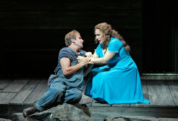 Patricia Racette as Susannah Polk  and James Kryshak as Little Bat McClean. Photo Credit: Cory Weaver/San Francisco Opera