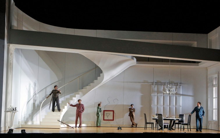 "SF Opera presents a surrealist-inspired production of Handel's baroque opera, ""Partenope"". Photo Credit: Cory Weaver."
