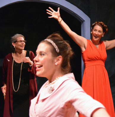 "Michaela Greeley, Terry Bamberger and Katherine Otis in ""Three Tall Women"". Photo Credit: Jay Yamada."