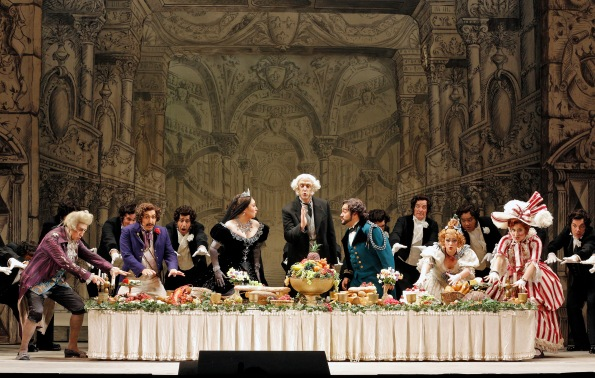 "The Dinner Party from Act I of ""La Cenerentola"". Photo Credit: Cory Weaver."