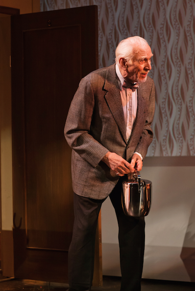 "Ray Reinhardt as Dr. Dreyfuss in ""Promises, Promises"". Photo Credit: Jessica Palipoli."