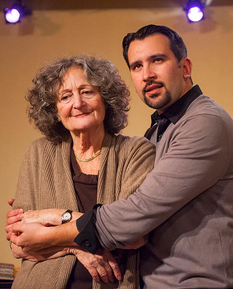 "Love makes a family for Elise (Patricia Silver) and Josiah (Nick Garcia) in Larissa FastHorse's ""Landless"" by Alter Theater."