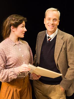 Kirsten Peacock as Pat Green and John Fisher as Alan Turing. Photo Credit: David Wilson.