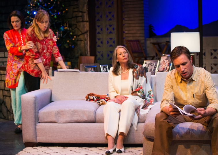 "The Wyeth family in NCTC's production of Jon Robin Baitz Pulitzer nominated, ""Other Desert Cities."" Featuring, from l to r: Paul Collins, Melissa Keith, Geoffrey Colton, Michaela Greeley, Cheryl Smith. Photo Credit: Lois Tema."