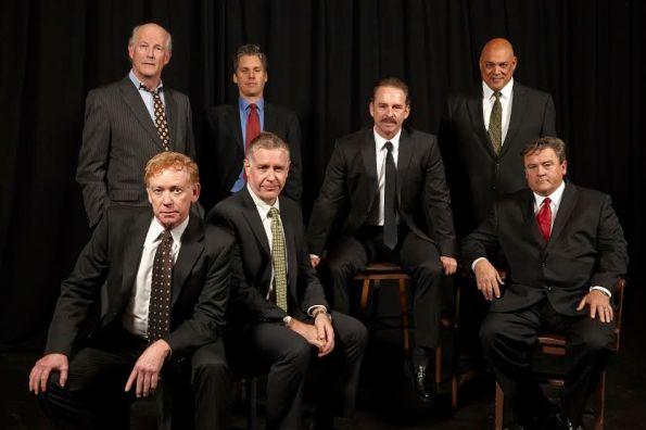 The cast of T heatreFirst's revival of David Mamet's masterpiece,
