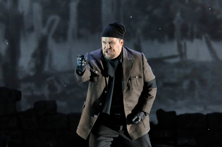 "Bass-baritone Mark Delavan is the melodramatic villain Giovanni in ""Two Women."" Photo Credit: Cory Weaver."