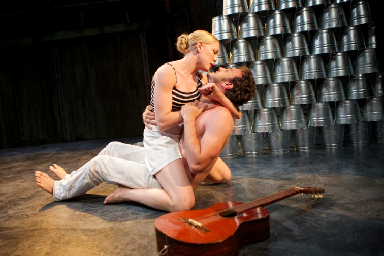 Megan Trout and Kenny Toll as Eurydice and Orpheus in Shotgun Players production of Sarah Ruhl's