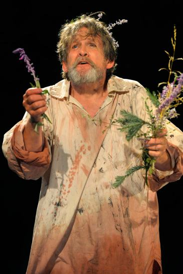 Anthony Heald as the mad King Lear at California Shakespeare Theater. Photo Credit: Kevin Berne.