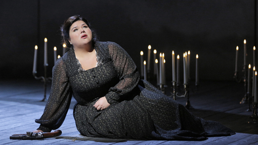 Leath Crocetto as Louisa MIller at SF Opera. Photo Credit: Cory Weaver.