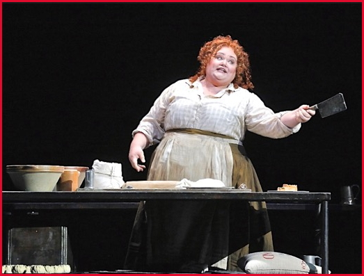 Stephanie Blythe as Mrs. Lovett in SF Opera's production of
