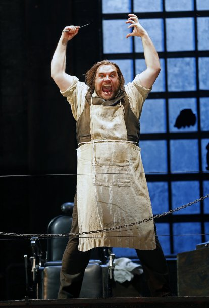 Brian Mulligan as Sweeney Todd at the SF Opera. Photo Credit: SF Opera.