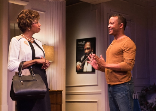"Velina Brown and Daniel Redmond in Terrence McNally's ""Mothers & Sons"" at New Conservatory Theatre Center. Photo Credit: Lois Tema."