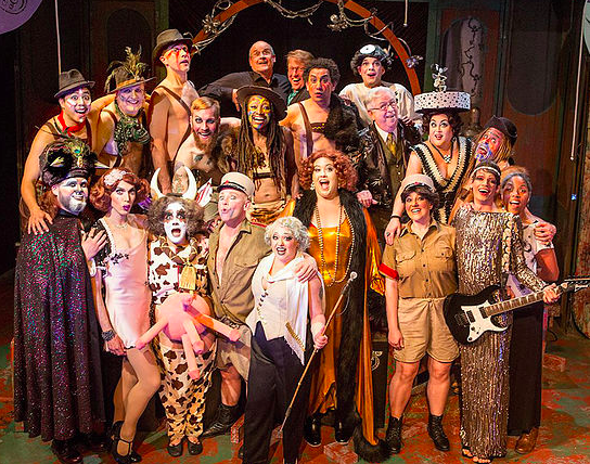 "The company of ""The Untamed Stage"" knows from outrageous Trust me. PHoto Credit: Thrillpeddlers."