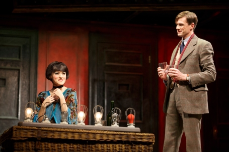 Andrea Goss and Lee Aaron Rosen as Sally Bowles and Clifford Bradshaw. Photo Credit: Joan Marcus.