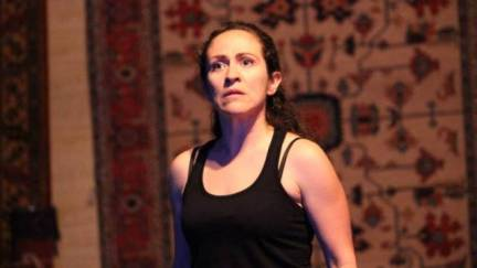 "Sara Ocon as Emilia in Ubuntu Theatre Project's production of ""Othello."""
