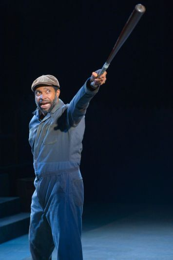 "Aldo Billingslea is brilliant in the role of Troy Maxson in CalShakes production of August Wilson's ""Fences."" Photo Credit: Kevin Berne."