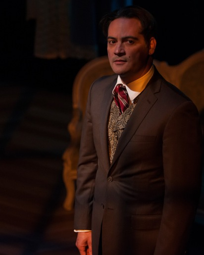 "As the seductive Valmont, Johnny Moreno manages to string along three different women in the world premiere of ""The Rules"" by Dipika Guha."
