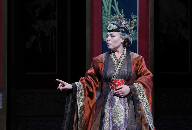 "Qiulin Zhang as Granny Jia in ""Dream of the Red Chamber."" Photo Credit: Cory Weaver/SF Opera."