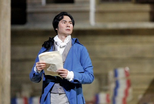 "Younghoon Lee in the title role of Umberto Giordano's ""Andrea Chénier."""