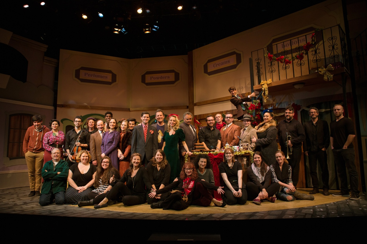 "The entire company (cast, musicians, crew, and creative team) of ""She Loves Me"" brings Christmas cheer to Union Square!"